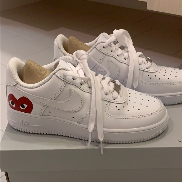 nike air force 1s CUSTOMIZED x comme des garcons